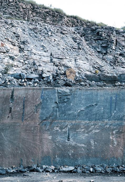 Anröchtei mészkő bányarétegek
